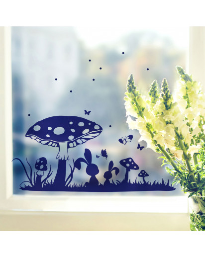 Fensterbild Hase