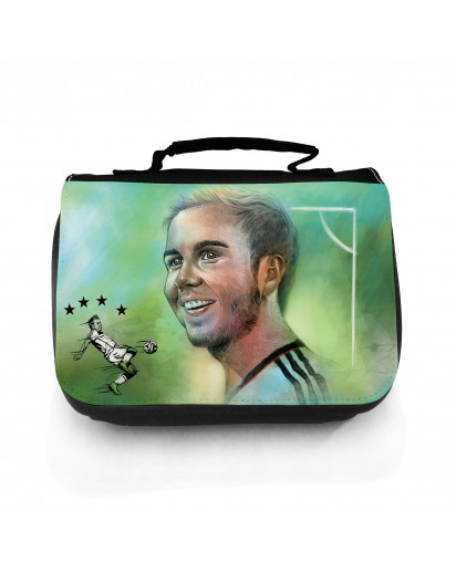 Waschtasche Waschbeutel Kulturbeutel Kosmetiktasche Reisewaschtasche Fussball Fussballer Götze wt103 Washbag toilet bag sponge bag cosmetics bag travel washbag football soccer player Götze wt103