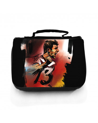 Waschtasche Waschbeutel Kulturbeutel Kosmetiktasche Reisewaschtasche Fussball Fussballer Müller wt104 Washbag toilet bag sponge bag cosmetics bag travel washbag football soccer player Müller wt104