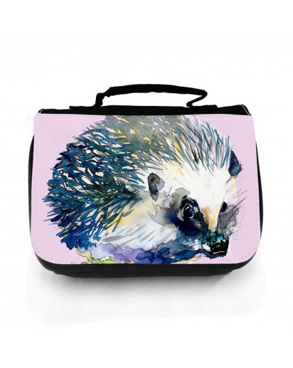 Waschtasche Waschbeutel Kulturbeutel Kosmetiktasche Reisewaschtasche Igel Igelchen washbag toilet bag sponge bag cosmetics bag travel washbag little hedgehog wt142
