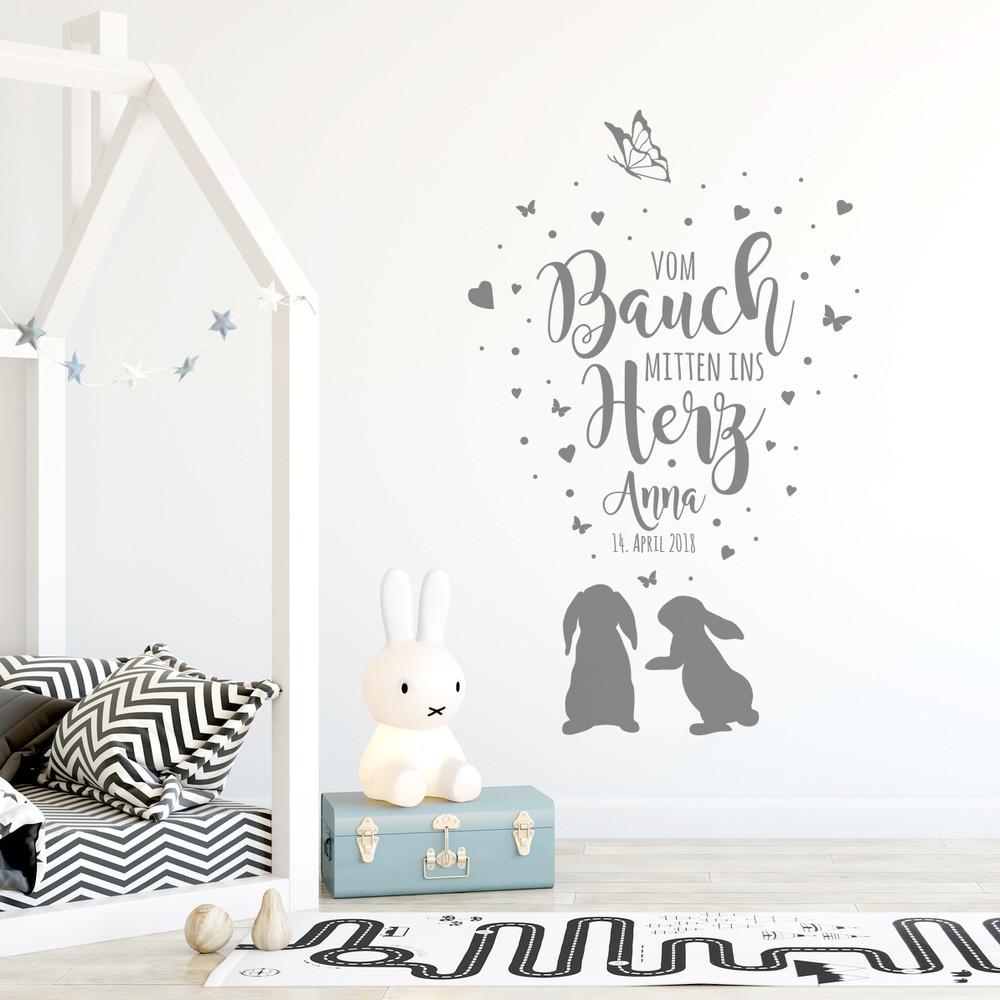 Wandtattoo Babyzimmer Pusteblume Geburtsdaten Zitat Kinderzimmer