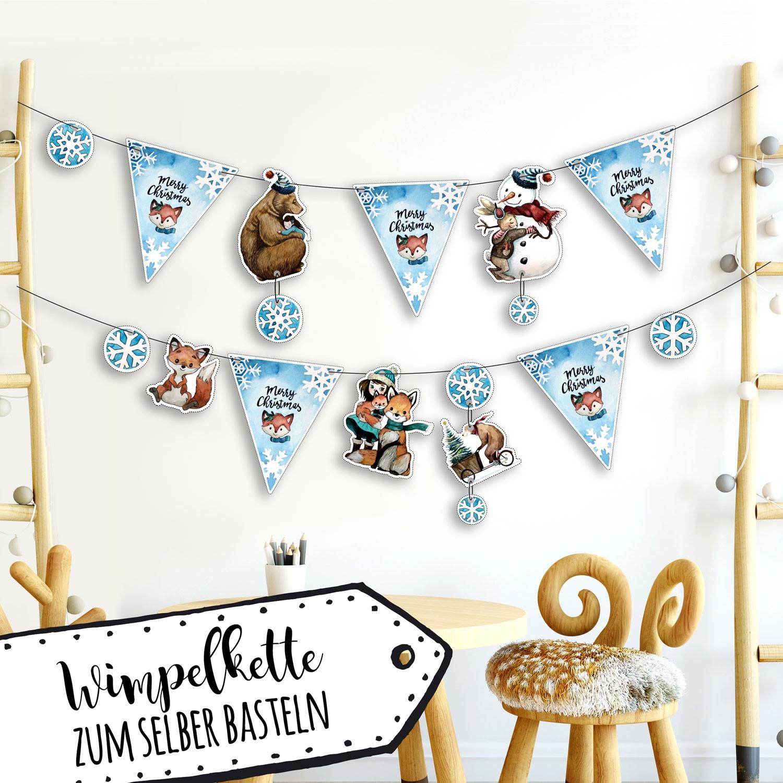 Großartig Wimpelkette Kinderzimmer Basteln Zeitgenössisch ...