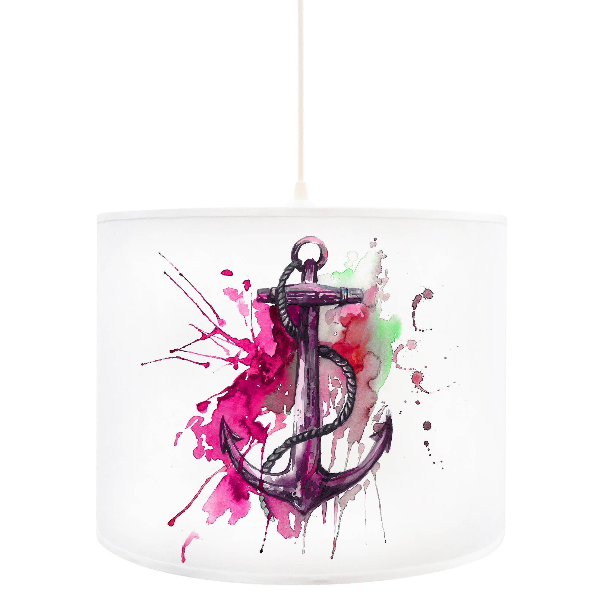 deckenlampe anker ankerplatz maritim in pink d54. Black Bedroom Furniture Sets. Home Design Ideas