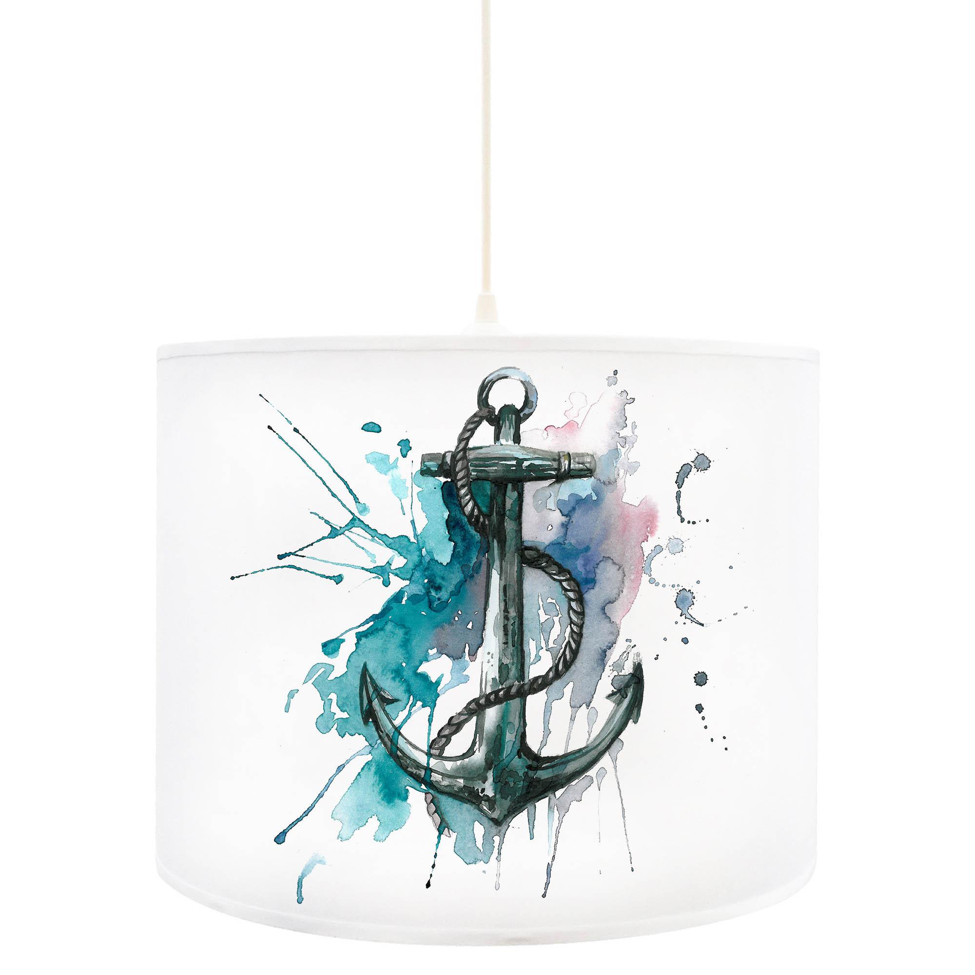 deckenlampe anker ankerplatz maritim in blau d55. Black Bedroom Furniture Sets. Home Design Ideas
