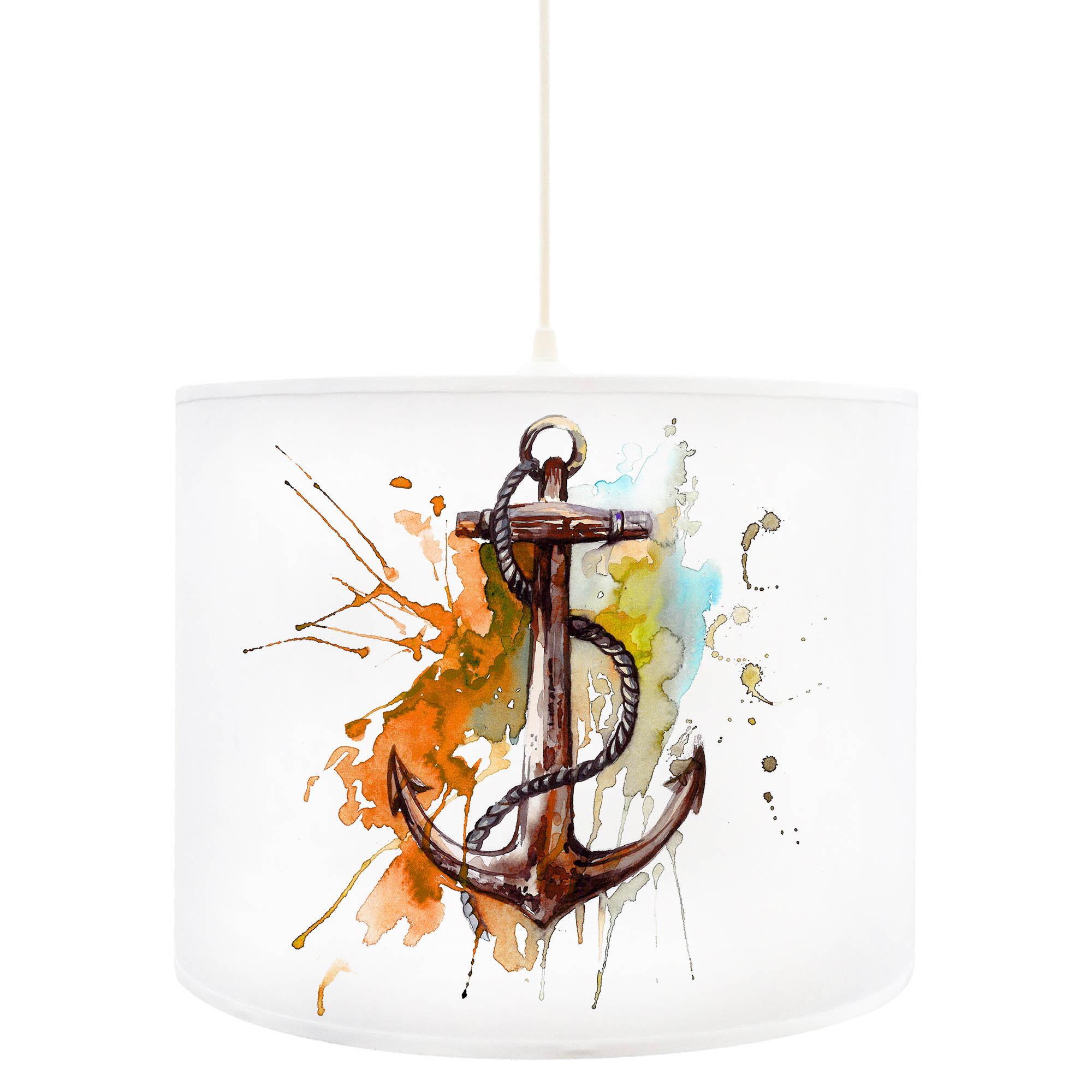 deckenlampe anker ankerplatz maritim in orange braun d56. Black Bedroom Furniture Sets. Home Design Ideas