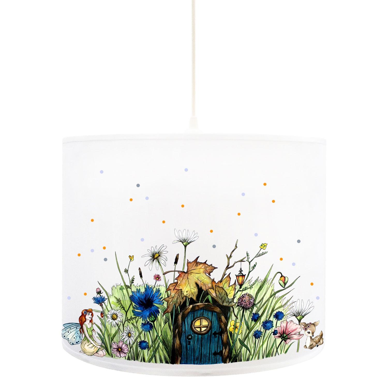 deckenlampe elfenwiese lampe mit kleiner elfe fee und. Black Bedroom Furniture Sets. Home Design Ideas
