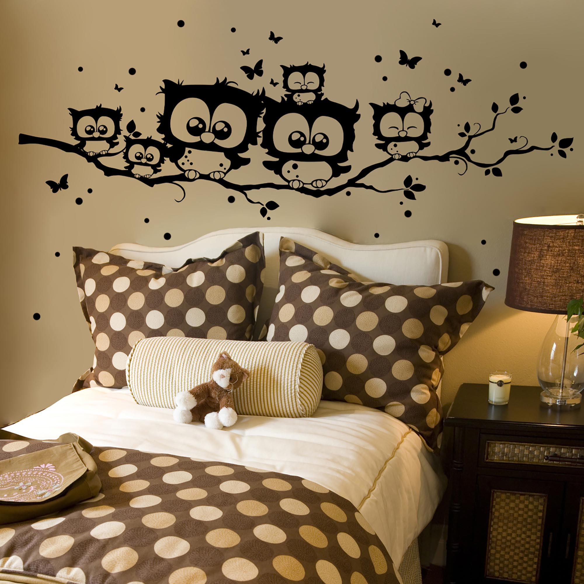 wandtattoo eule zweig reuniecollegenoetsele. Black Bedroom Furniture Sets. Home Design Ideas