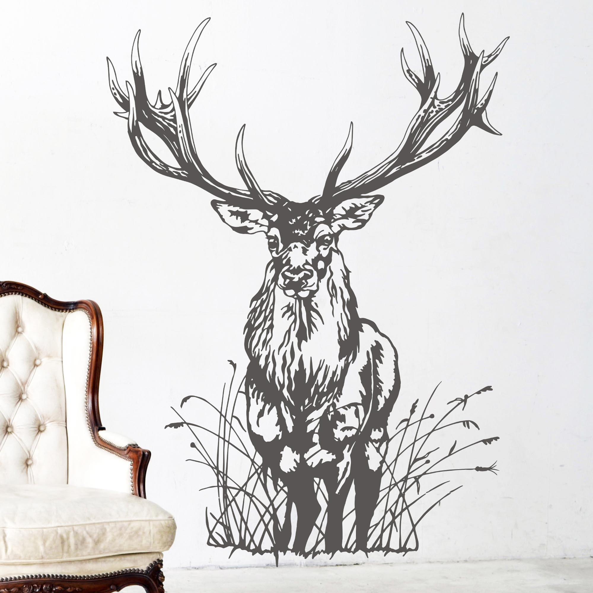 wandtattoo hirsch wild rehbock waldtier reh m1713. Black Bedroom Furniture Sets. Home Design Ideas