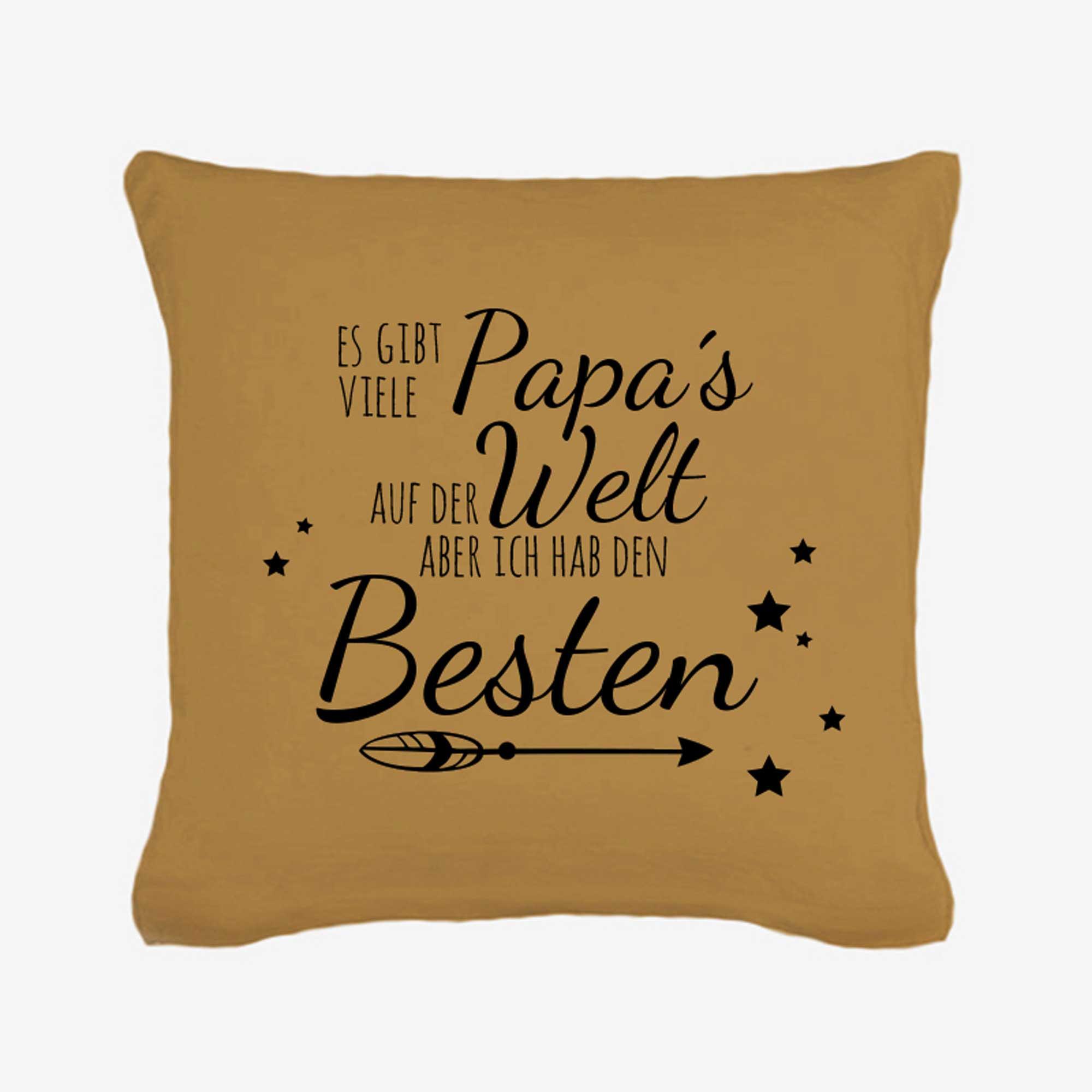 kissen spruch bester papa mit sternen und pfeil inklusive f llung k22 wandtattoos elfent r tassen. Black Bedroom Furniture Sets. Home Design Ideas