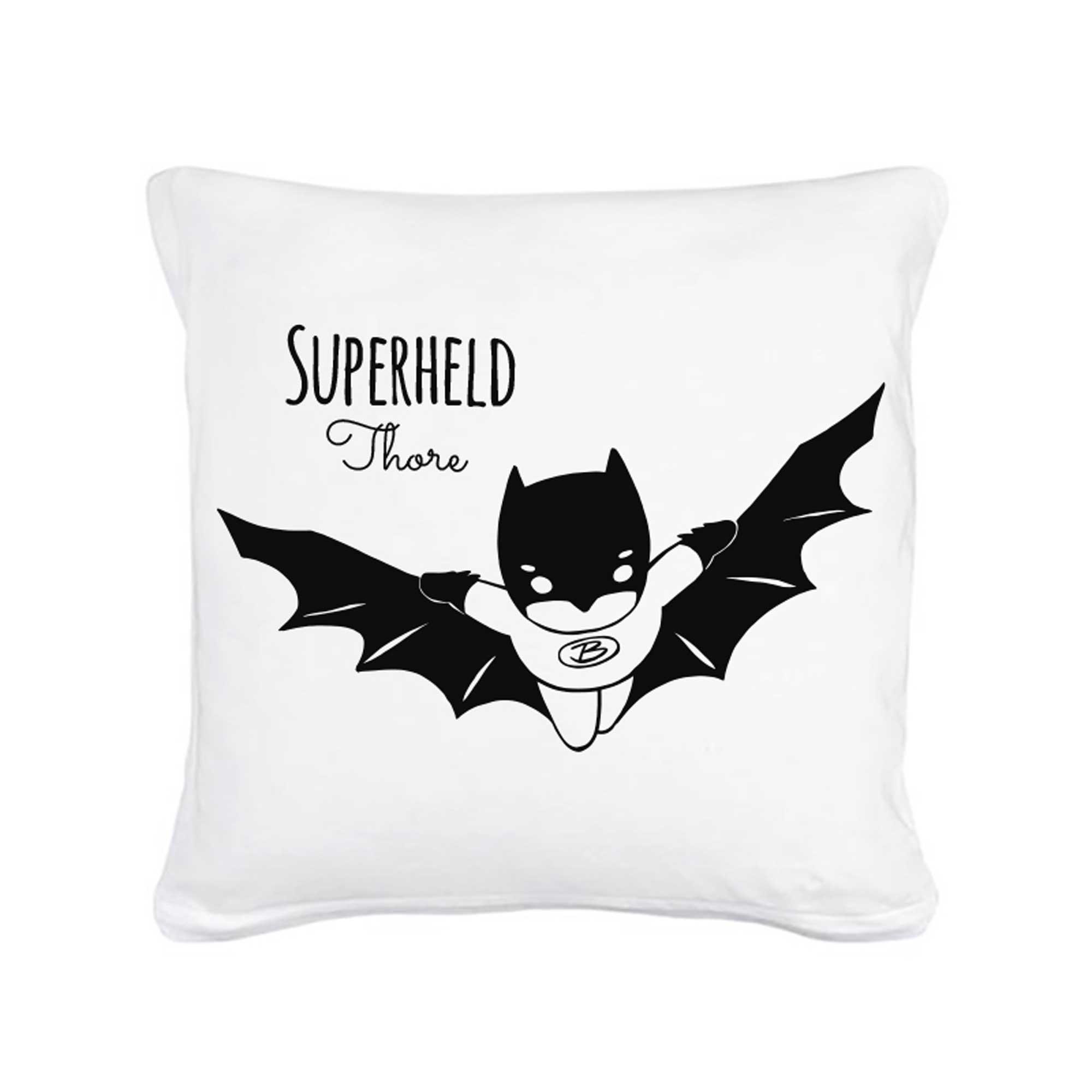 kissen superheld fliegend mit wunschnamen inklusive f llung k25 wandtattoos elfent r tassen. Black Bedroom Furniture Sets. Home Design Ideas