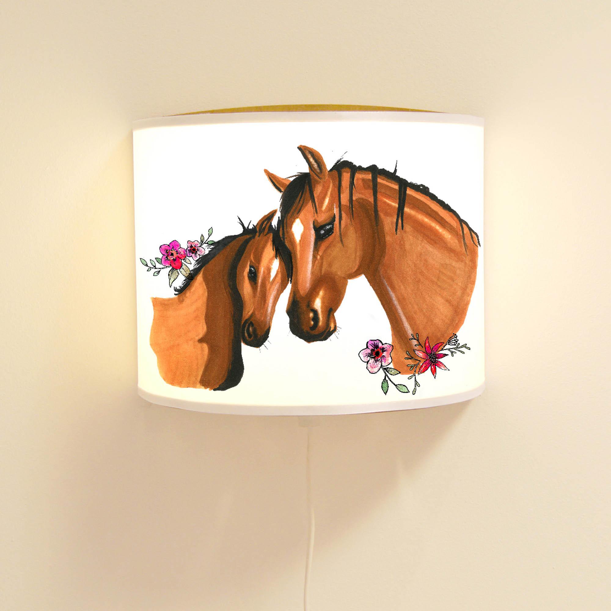 Wandlampe Schlummer-Lampe Lese-Schlummerlicht Pferde Pferd mit ...