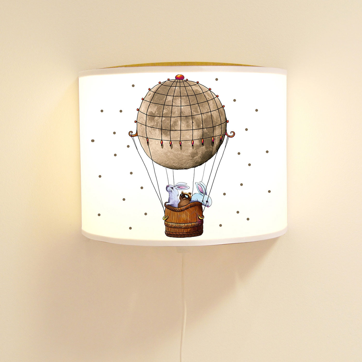 kinderlampe wandlampe hei luftballon lampe motivlampe mit. Black Bedroom Furniture Sets. Home Design Ideas