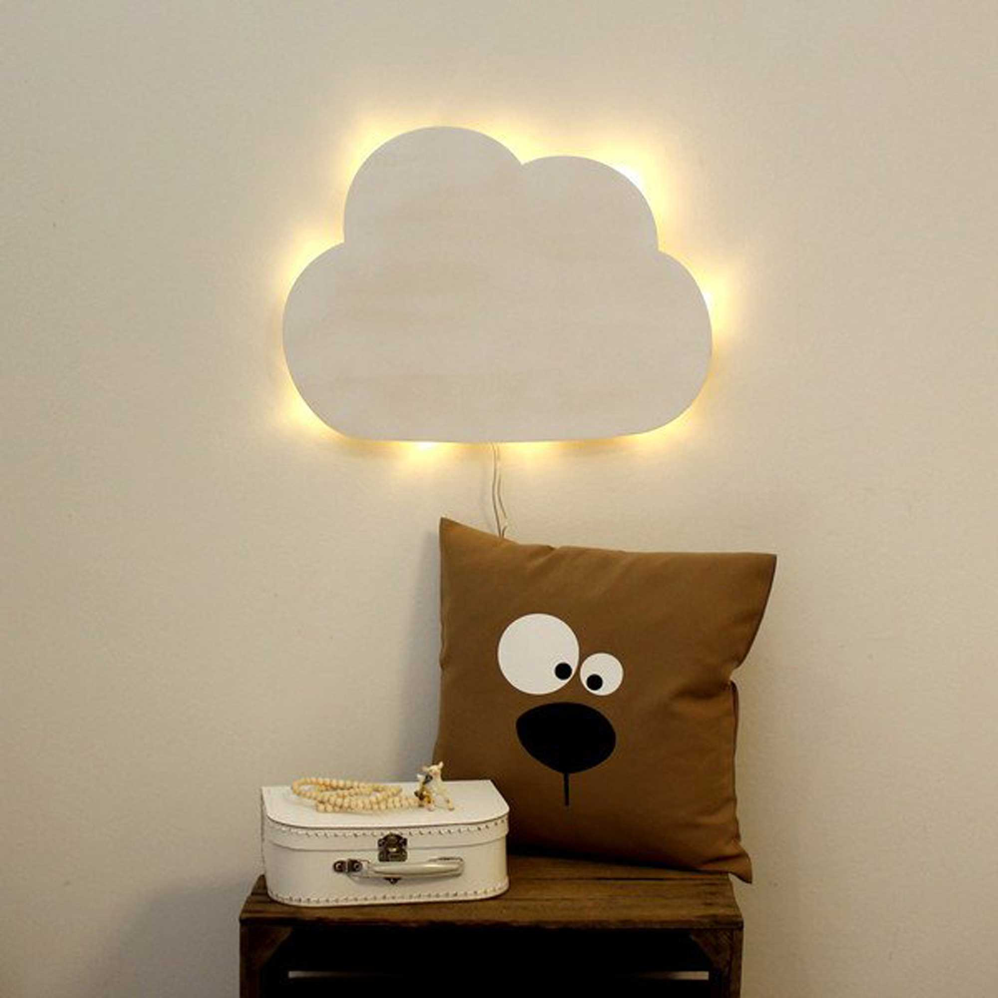wandlampe kinderlampe wolke schlummerlampe in wei m2033. Black Bedroom Furniture Sets. Home Design Ideas