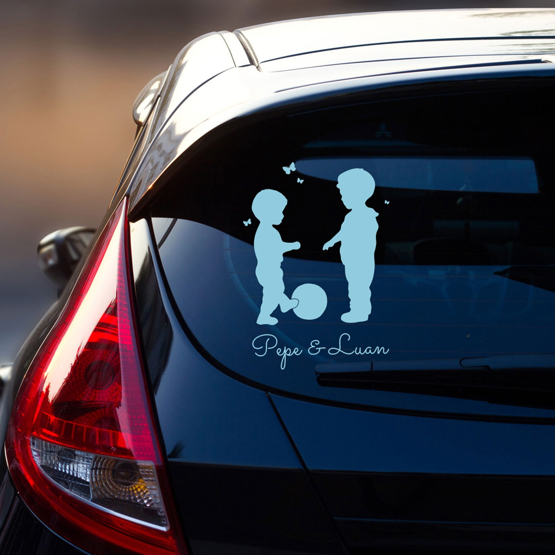 Autotattoo Heckscheibe Jungs Autoaufkleber Kinder Mit Ball Und