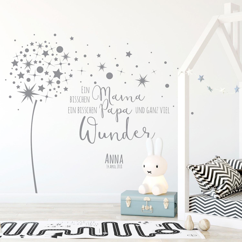 Dekoration Name Ein Bisschen Mama Baby Sterne Geburt Kinderzimmer Wandspruch Wandtattoo Mobel Wohnen Elin Pens Ac Id