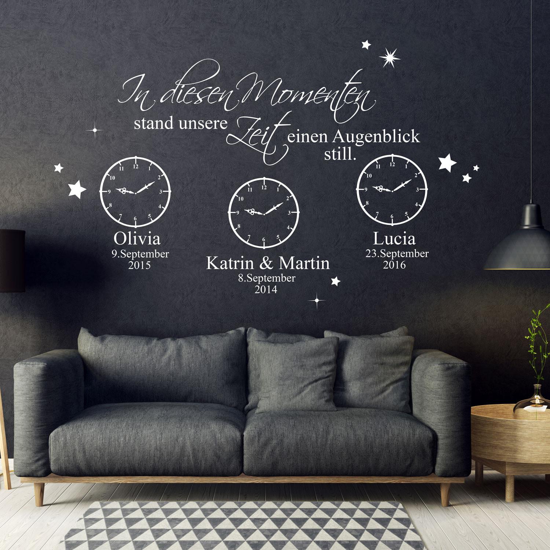 Wall Decals Stickers In Diesen Momenten Stand Die Zeit Still Wandtattoo Aufkleber Kinder Wunschname Home Furniture Diy Omnitel Com Na