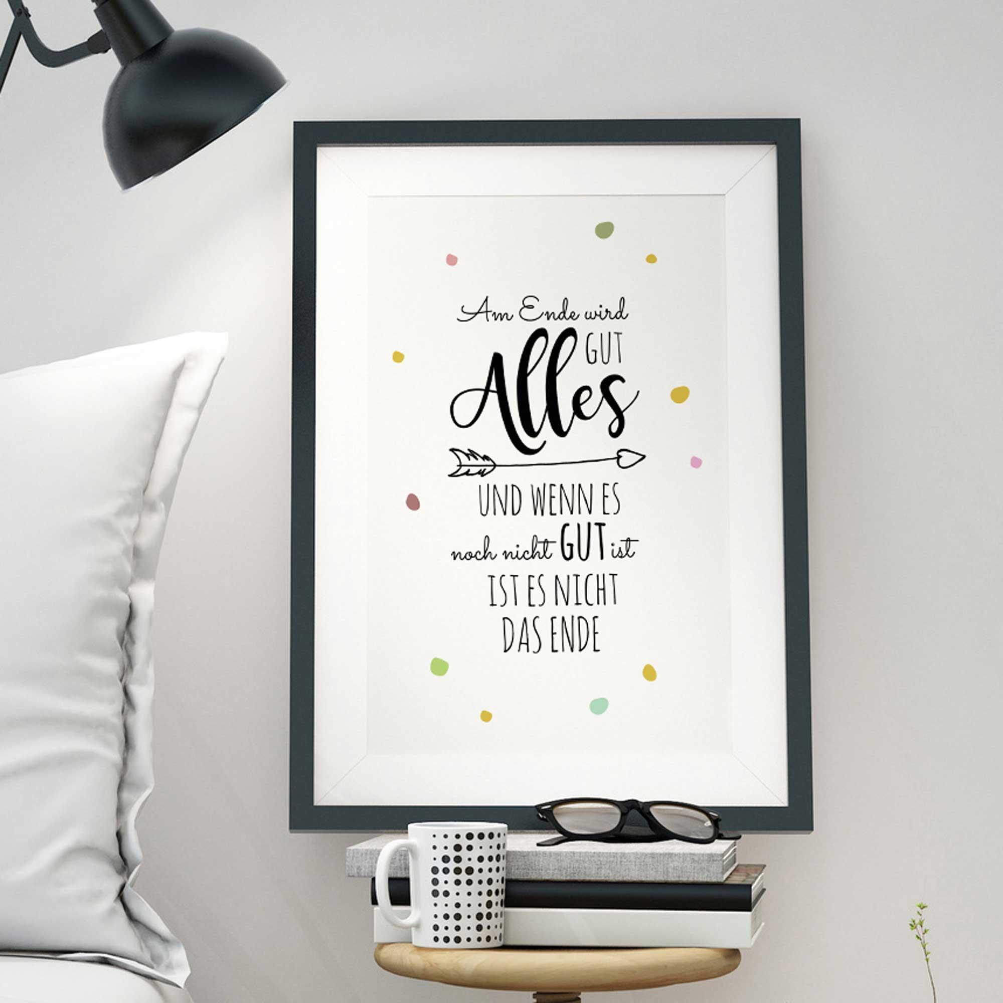 a3 print illustration poster plakat mit punkten und spruch. Black Bedroom Furniture Sets. Home Design Ideas