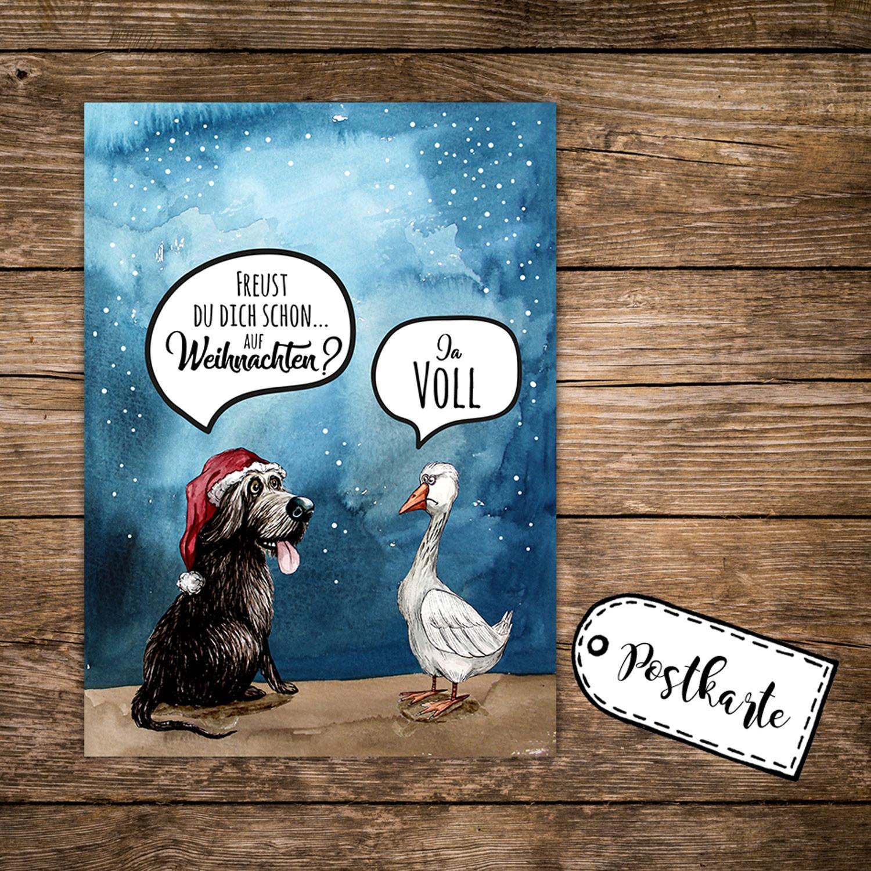 a6 weihnachtskarte lustig postkarte weihnachten print mit. Black Bedroom Furniture Sets. Home Design Ideas