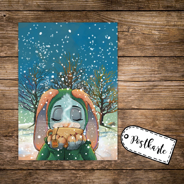 a6 weihnachtskarte lustige postkarte weihnachten print