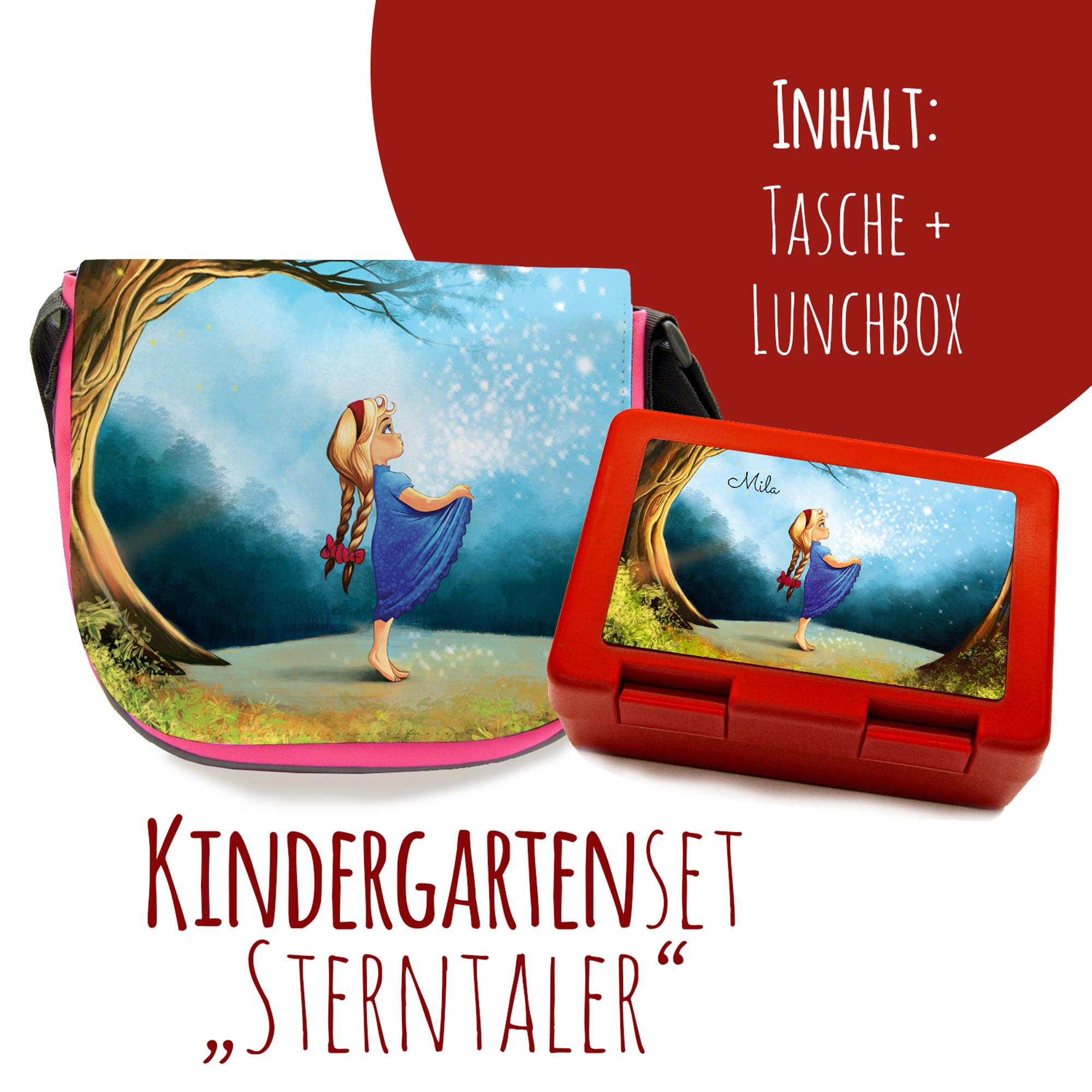 schulset kindertasche und lunchbox mit märchen sterntaler