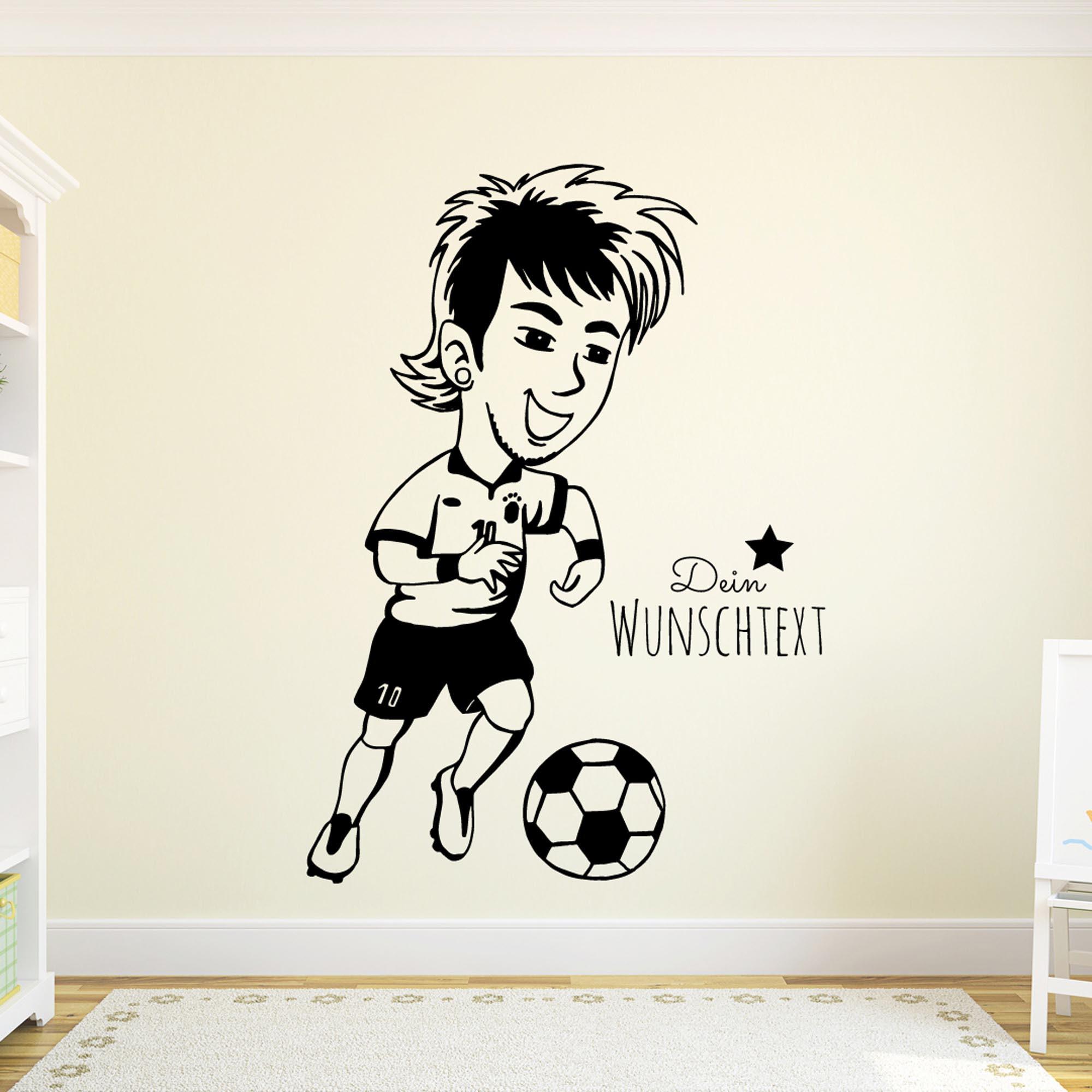Wundervoll Wandtattoo Fußball Beste Wahl Fussball Fussballspieler Neymar Mit Wunschtext M1965. Fussballspieler