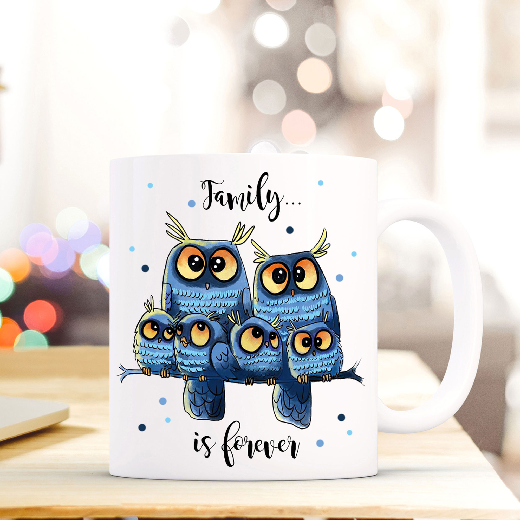 Tasse Familie Eule Mit Spruch Family Is Forever Ts408
