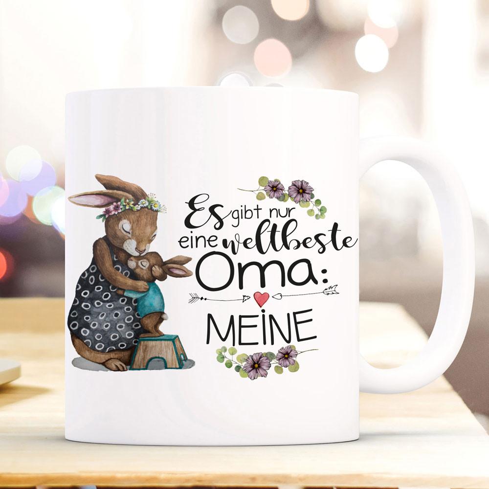 Kaffee Tasse Beste Oma der Welt Schmetterling Geburtstag Weihnachts Geschenk