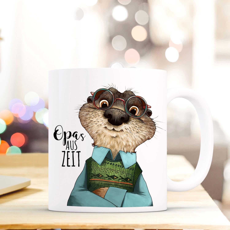 tasse becher otter spruch opa 39 s auszeit zitat geschenk kaffeebecher ts581 wandtattoos. Black Bedroom Furniture Sets. Home Design Ideas