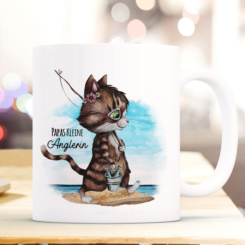 Baby Tasse Becher Katze Kätzchen Papas Kleine Anglerin Kaffeetasse Geschenk Ts960