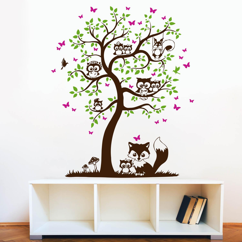Eule Baum Wandtattoo | Die schönsten Einrichtungsideen