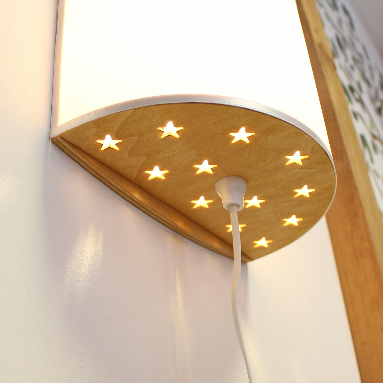 kinderlampe wandlampe einhorn auf pusteblume lampe. Black Bedroom Furniture Sets. Home Design Ideas