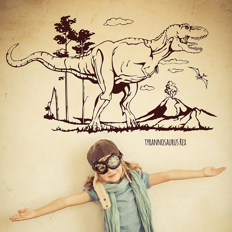wandtattoo wandaufkleber dino saurier dinosaurier trex