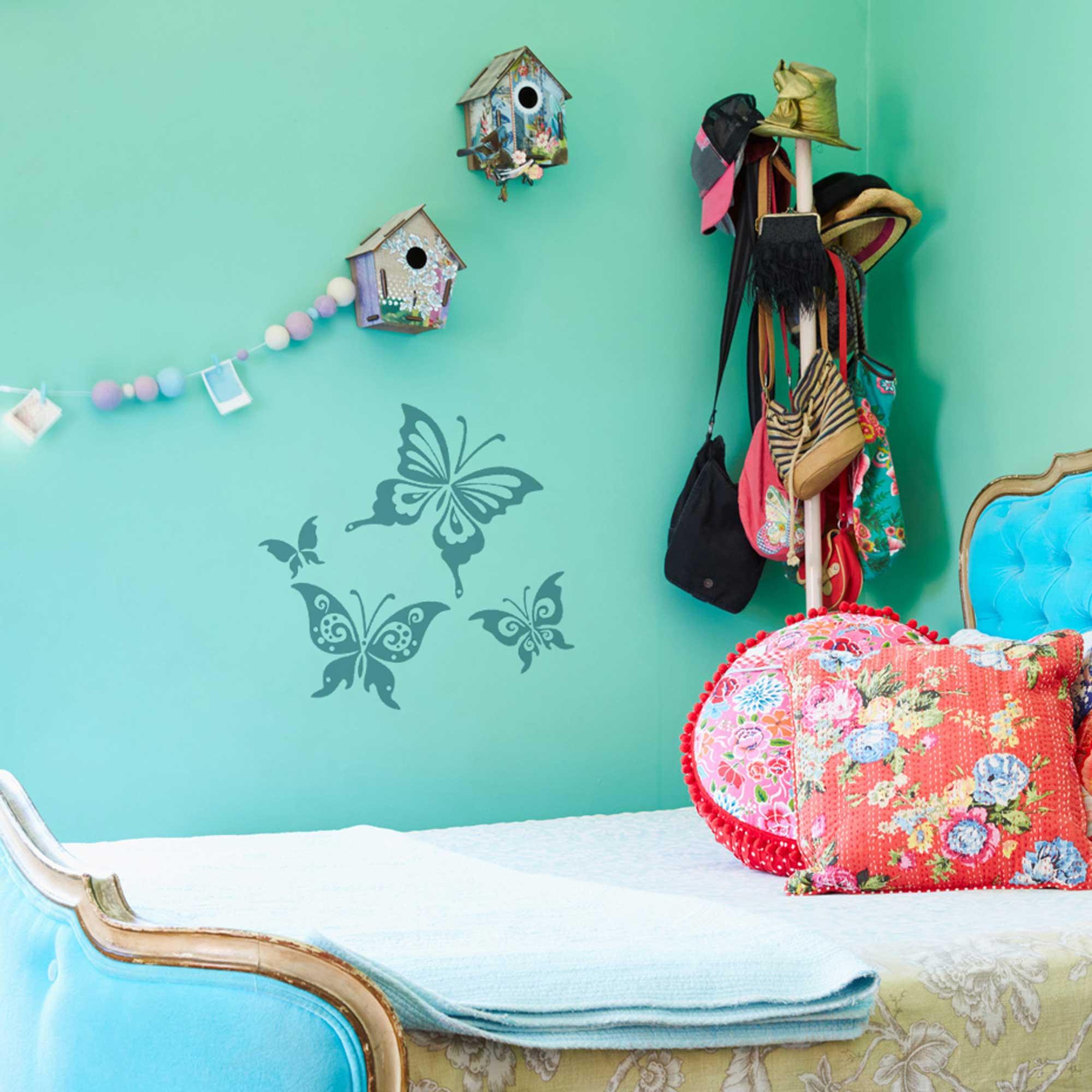 Fabelhaft Wandtattoo Schmetterling Foto Von