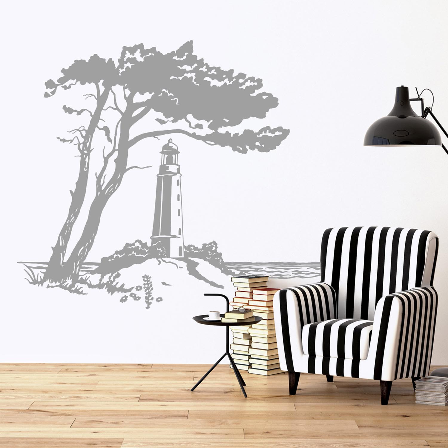 wandtattoo ostsee hiddensee mit leuchtturm m1929. Black Bedroom Furniture Sets. Home Design Ideas