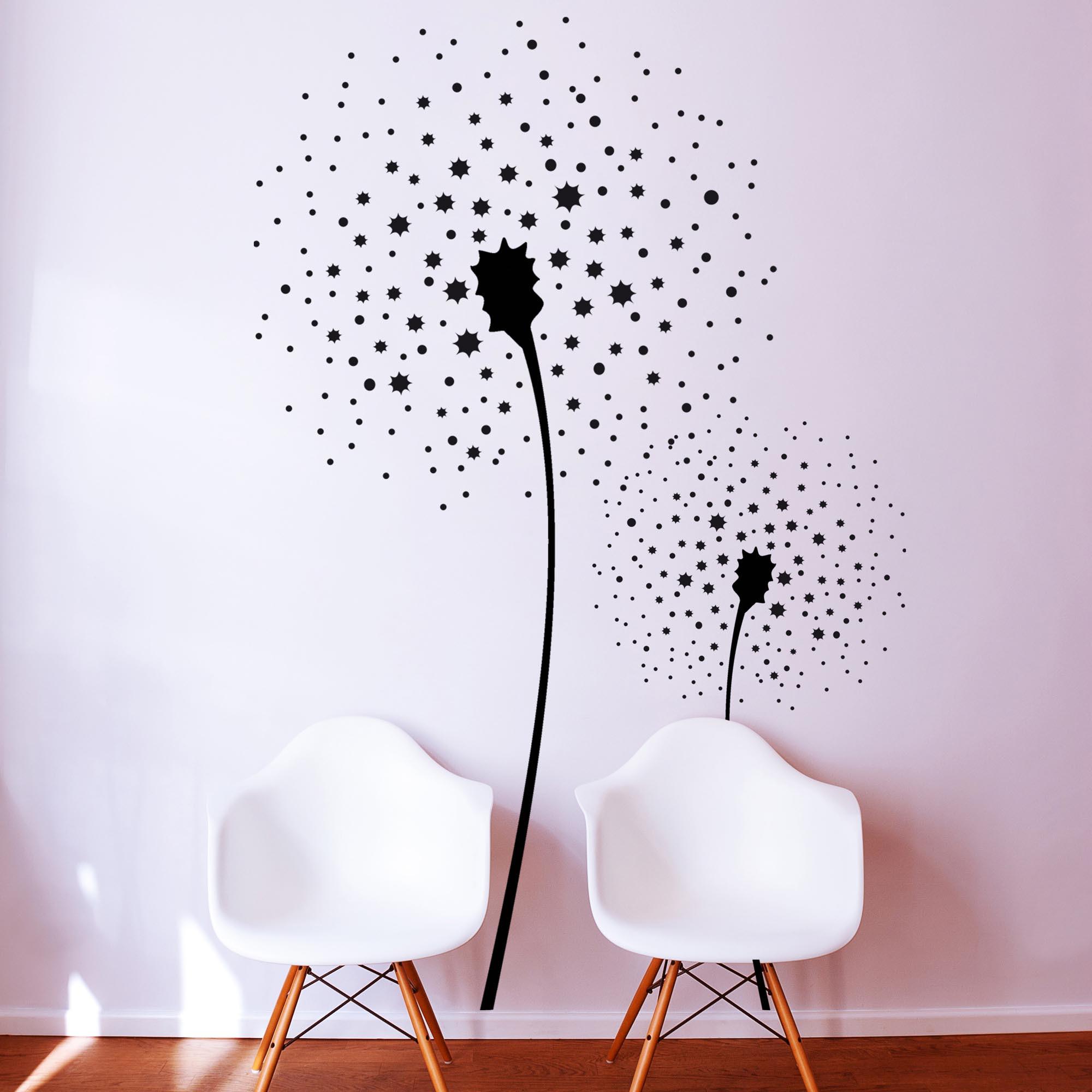 wandtattoo wandaufkleber pusteblume blume m763. Black Bedroom Furniture Sets. Home Design Ideas