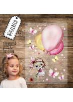 Bügelbilder Hase Häschen Ballons Schmetterlinge Set in A5 Applikation Kissen Shirt Taschen Bügelbild Bügelmotiv Patch Aufbügelbilder bb214