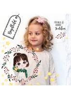 Bügelbilder Schutzengel Engel im Kranz Set in A5 Applikation Kissen Shirt Taschen Bügelbild Bügelmotiv Patch Aufbügelbilder bb218