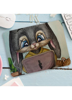 Mousepad mouse pad Mauspad Hase Häschen mit Laptop Mausunterlage bedruckt mouse pads mp104