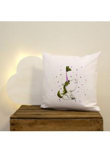 Kissen Einhorn mit Schmetterling moosgrün inklusive Füllung ks27