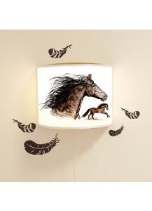 wandlampe schlummer lampe lese schlummerlicht pferde pferd. Black Bedroom Furniture Sets. Home Design Ideas