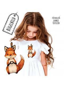 Bügelbilder Applikation Fuchs Füchschen Herz Bügelbild Patch Bügelmotiv Aufbügelbilder Kissen Shirt Taschen bb187
