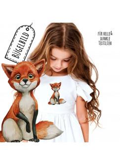 Bügelbilder Applikation Fuchs Füchschen Pfote Pfötchen hoch Bügelbild Patch Bügelmotiv Aufbügelbilder Kissen Shirt Taschen bb200