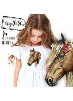Bügelbild Pferde Bügelbilder Applikation Pferd Pony bb030