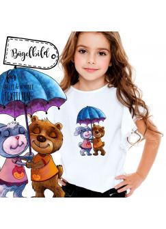 Bügelbild Hase und Bär Bügelbilder Mädchen Applikation Tierpatch bb047