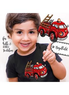 Bügelbilder Applikation Feuerwehr Fahrzeug Bügelbild Bügelmotiv Aufbügelbilder für Jungs bb054