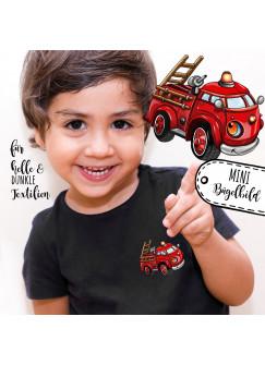 Bügelbilder Applikation Feuerwehr Fahrzeug -mini- Bügelbild Bügelmotiv Aufbügelbilder für Jungs bb055