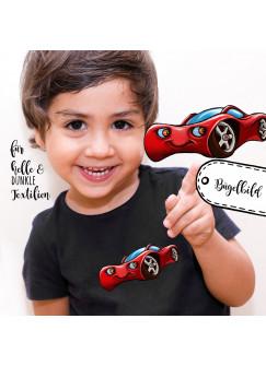 Bügelbilder Applikation Rennauto Auto rot Bügelbild Bügelmotiv Fahrzeug Aufbügelbilder für Jungs bb058