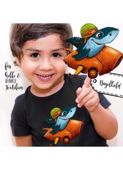 Bügelbilder Applikation Rennfahrer Hai Bügelbild Bügelmotiv Haifisch Aufbügelbilder für Jungs bb062