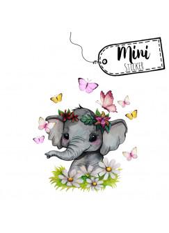 Mini Sticker Aufkleber Elefant Blumen Schmetterlinge -wiederverwendbar- Fensterdeko Fensterbilder Frühling Deko Dekoration bf61mini
