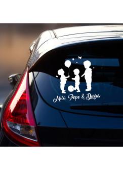 Auto Aufkleber Heckscheibe Name Kinder Kids M2390